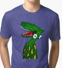 Alien Dinosaur  Tri-blend T-Shirt