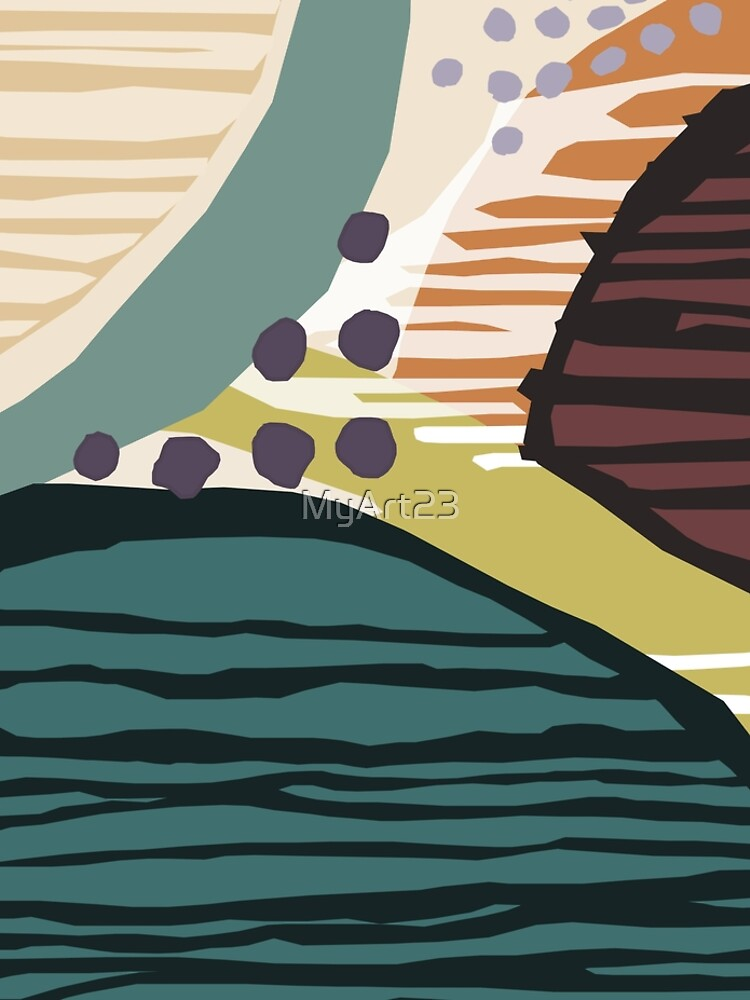 Modern Contemporer Digital Abstract Painting in colors by MyArt23