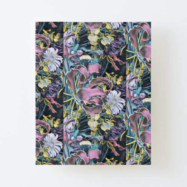 Grande Flora in Midnight | BOTANICALS  Canvas Mounted Print