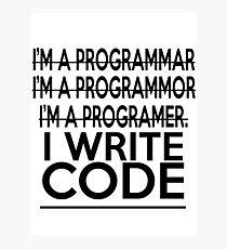 Programmer joke Photographic Print