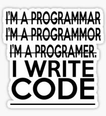 Programmer joke Sticker