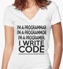 Programmer joke Women's Fitted V-Neck T-Shirt