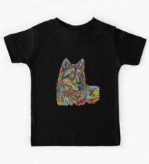 Psychedelic Wolf Kids Tee