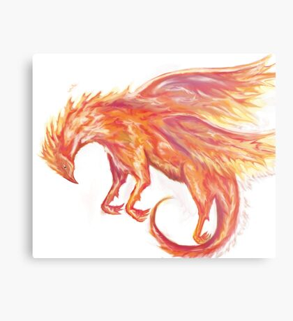 Mythical Combination: Pheonix + Griffin Metal Print