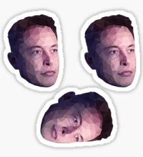 Low Poly Hero: Elon Musk – Stickers (3 Pack) Sticker