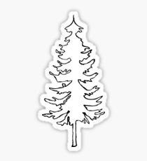 Black and White Pine Sticker