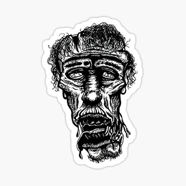 Slack-Jaw Zombie Sticker
