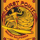 MALIBU FIRST POINT CALIFORNIA SURFING by Larry Butterworth