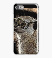Steampunk Mongoose with Goggles and Attitude iPhone Case/Skin
