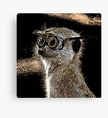 Steampunk Mongoose with Goggles and Attitude Canvas Print