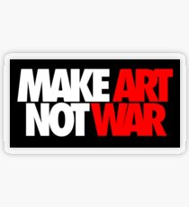 Make Art Not War Transparent Sticker
