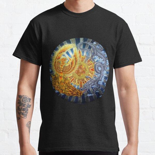 Chinese Phoenix and Dragon Mandala Classic T-Shirt