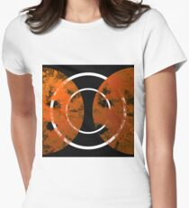 Resonance - Abstract in gold, black and white Women's Fitted T-Shirt