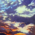 'Mountain Sunset' by Jerry Kirk