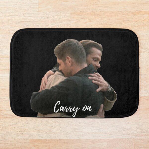 carry on sam and dean last hug scene in heaven supernatural finale  Bath Mat