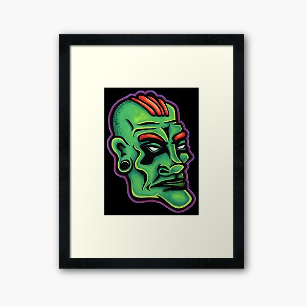 Dwayne - Die Cut Version Framed Art Print