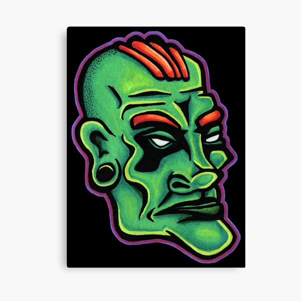 Dwayne - Die Cut Version Canvas Print