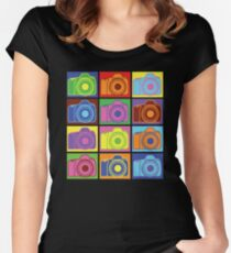 Warhol Cameras Women's Fitted Scoop T-Shirt