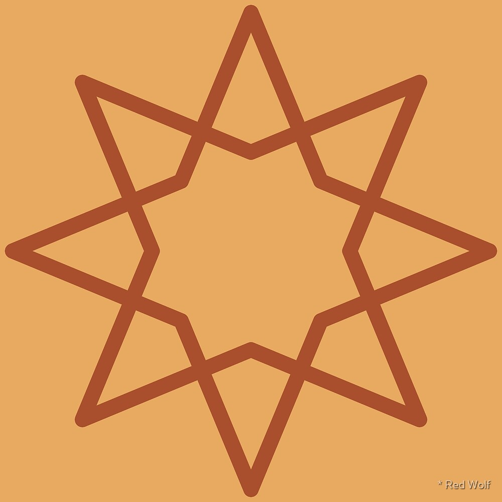 Geometric Pattern: Octagram: Toffee by * Red Wolf