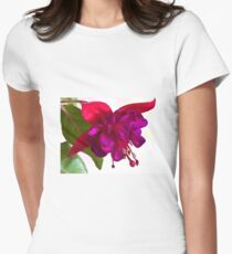 Fuschia Blossom Macro  Womens Fitted T-Shirt
