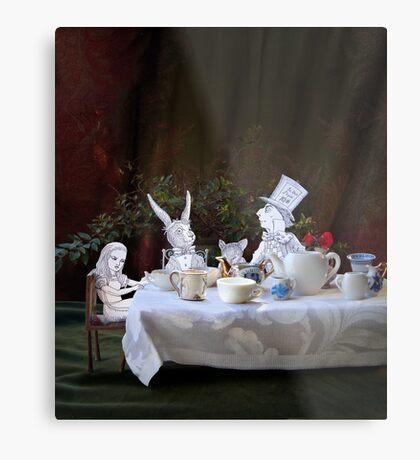 Alice in Wonderland/The Tea Party Metal Print