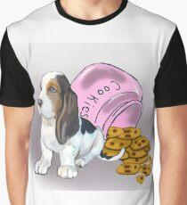 Basset Hound and Cookies Graphic T-Shirt