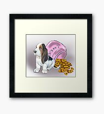 Basset Hound and Cookies Framed Print