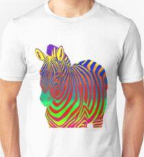 Psychedelic Colorful Rainbow Zebra Unisex T-Shirt