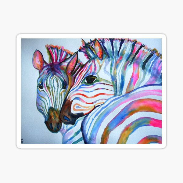 Stripes of a  Different Color Sticker