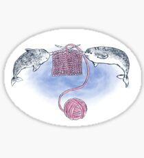 Narwhal Knitting Sticker