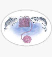 Narwhal Knitting Sticker