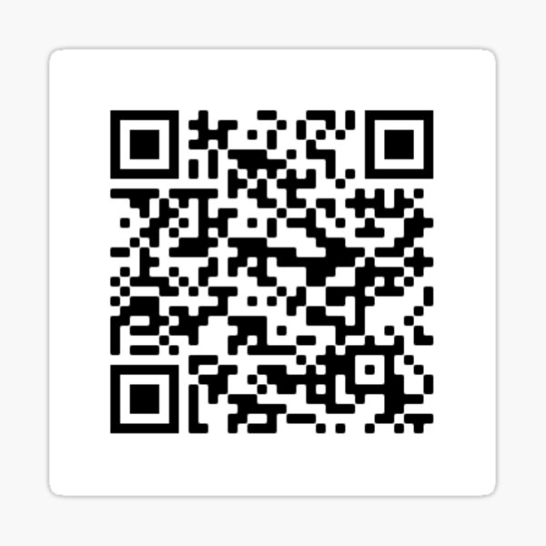 QR code for Quackity's song Where Are The Askers Sticker