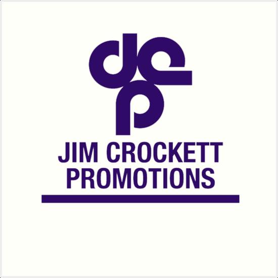 jim crockett promotions logo art prints by cdsmiles redbubble