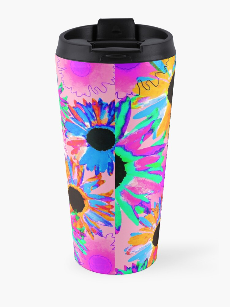 Alternate view of Wildflower - Bright Pink Travel Mug