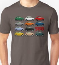 Camiseta unisex Vista lateral Fiat 500
