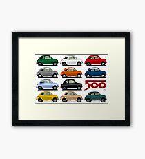 Fiat 500 side view Framed Print