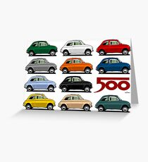 Fiat 500 side view Greeting Card