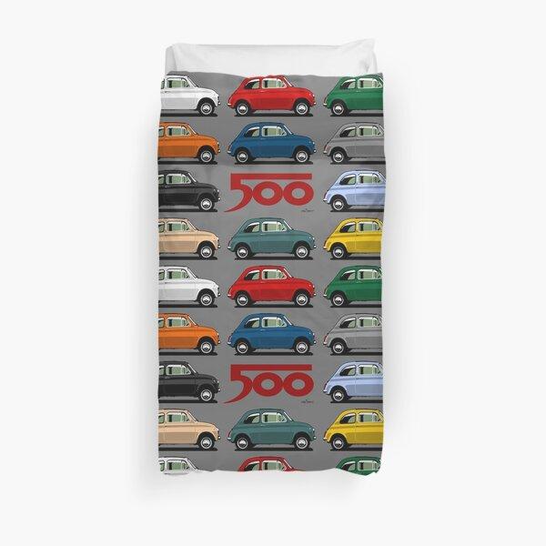 Fiat 500 side view Duvet Cover