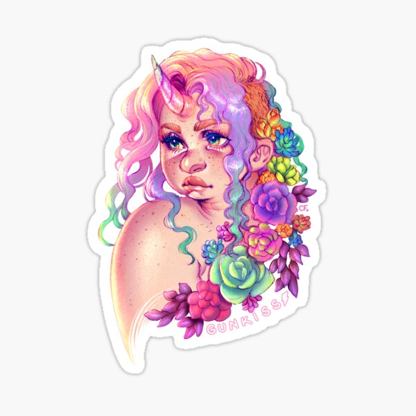 Succulent Unicorn Sticker