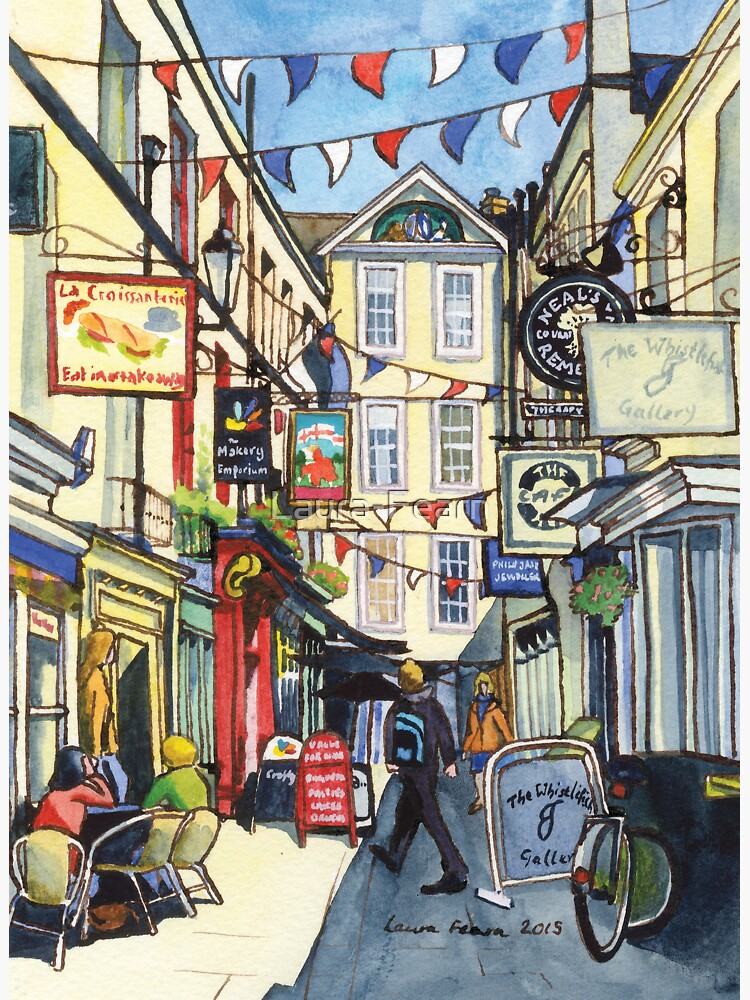 Bunting at Northumberland Place, Bath. by Laura-Fearn