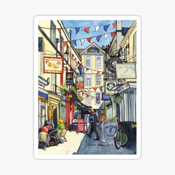 Bunting at Northumberland Place, Bath. Sticker