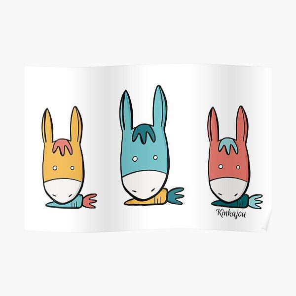 Kinkajou carrot donkey Poster