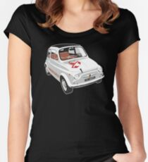 Fiat Abarth 595 Women's Fitted Scoop T-Shirt