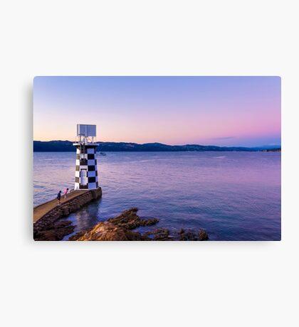Point Halswell Lighthouse at Dusk, Wellington, NZ Canvas Print
