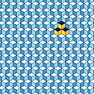 Blue & Orange Tiling Cubes by funmaths