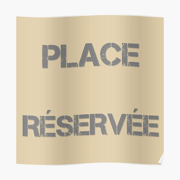 Reserved seat Poster