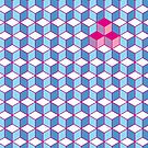 Blue & Pink Tiling Cubes by funmaths