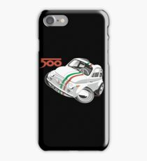 Fiat 500D caricature white iPhone Case/Skin