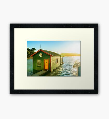 Boathouse Sunrise Framed Print