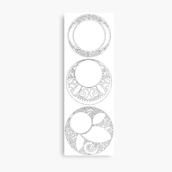 Rosaces Metal Print